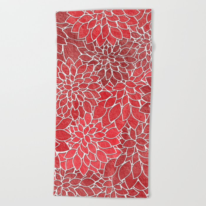 Floral Abstract 20 Beach Towel