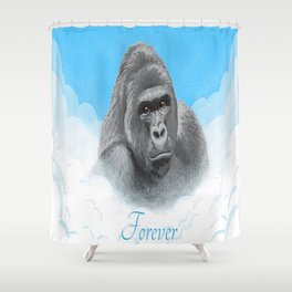Harambe Forever. Shower Curtain