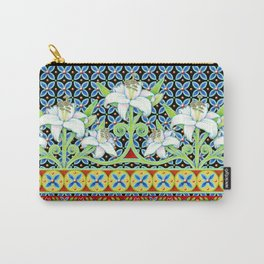 Elizabethan Folkloric Lily Carry-All Pouch