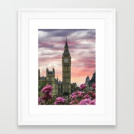 London Pink Framed Art Print