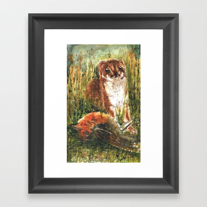 Very little weasel Framed Art Print