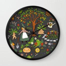 Witch Garden Wall Clock
