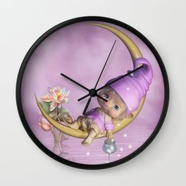 Fairy Baby Wall Clock
