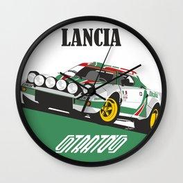Lancia Stratos Alitalia livery Wall Clock