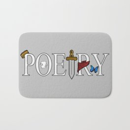 Merlin & Arthur - Poetry (Distressed) Bath Mat