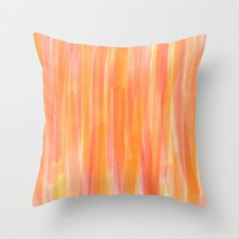Sunset Red Orange and Yellow Watercolor Throw Pillow