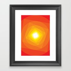 Gradient Sun Framed Art Print