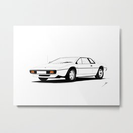 Cars And Coffee - Lotus Esprit S1 Metal Print
