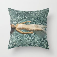 Ophelia in a Pool Throw Pillow