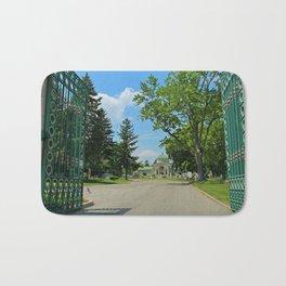 Calvary Cemetery Gate II Bath Mat