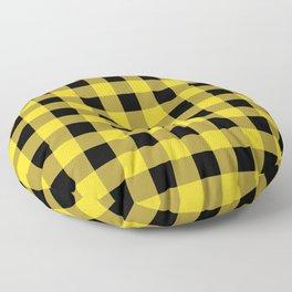 Yellow Buffalo Check Floor Pillow