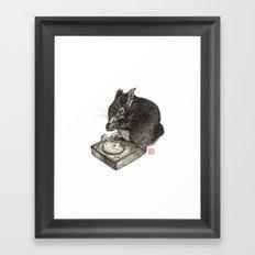 DJ Squirrel Framed Art Print