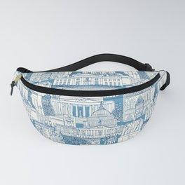 Washington DC toile blue Fanny Pack