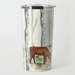 Doe in Aspen Grove Travel Mug