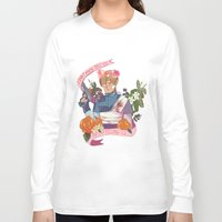 """resident evil Long Sleeve T-shirts featuring Resident Evil 2 Print - """"22 - Leon"""" by MIU/Manzo"""