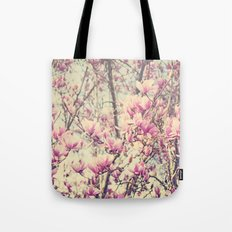 Magnolia Blossoms Early Spring Botanical Tote Bag
