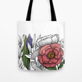 Peony and company Tote Bag