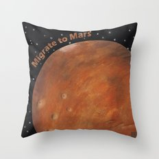 Migrate To Mars Throw Pillow