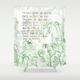 """""""Conquest of the Useless"""" by Werner Herzog Print (v. 3) Shower Curtain"""