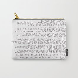 random words and words Carry-All Pouch