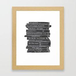 Mono book stack 1 Framed Art Print