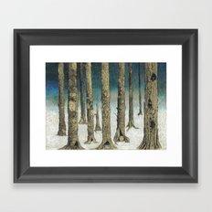 Snowy Woods Framed Art Print