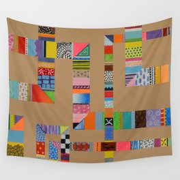 Patchwork Pipes Wall Tapestry