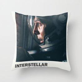"Interstellar "" do not go gentle into that good night "" sci-fi movie poster Throw Pillow"