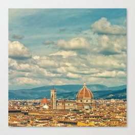 Duomo in Florence Skyline Canvas Print