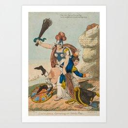 [Williams (Charles)] Britannia Correcting an Unruly Boy, Art Print