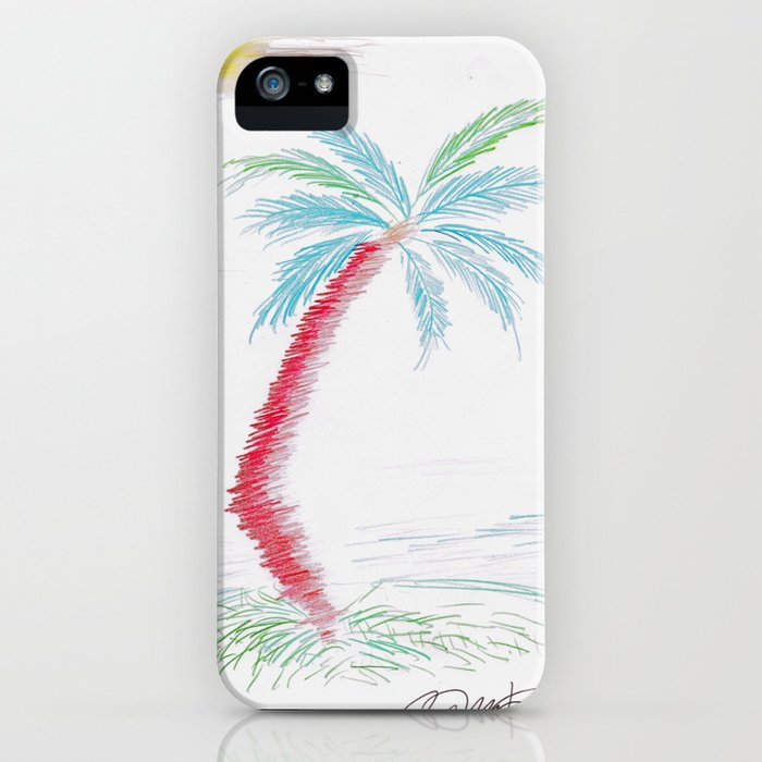 """""""Island Palm"""" Mixed Media Sketch iPhone Case"""
