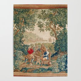 Verdure 18th Century French Tapestry Print Poster