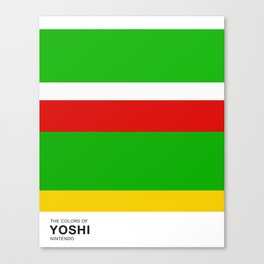 The Colors of Yoshi Canvas Print