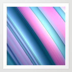 Blue and Pink Swoosh Art Print