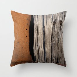 Rust & Old Wood Throw Pillow