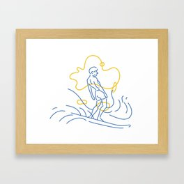 Surfer Framed Art Print