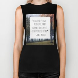 blessed are those who see beautiful things Biker Tank
