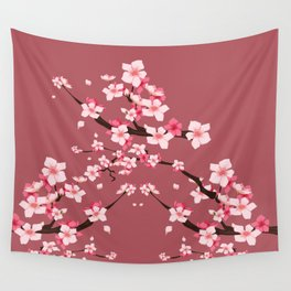 Cherry blossoms Wall Tapestry