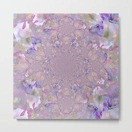 Mandala Purple Haze Metal Print