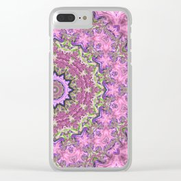 Vibrant Fractal Kaleidoscope Clear iPhone Case