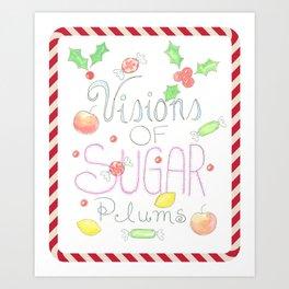 Visions of Sugar Plums Watercolor Art Print
