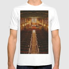 Old Warm Church White MEDIUM Mens Fitted Tee