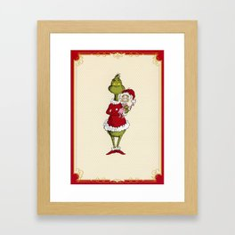 Grinch and Cindy Lou Framed Art Print