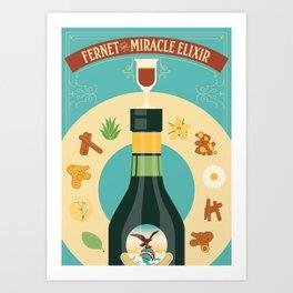 Fernet Branca the Miracle Elixir Art Print