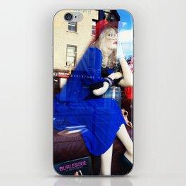 Blue Dress On iPhone Skin