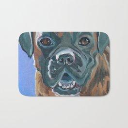 Boone the Boxer Dog Portrait Bath Mat