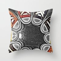 chuck Throw Pillows featuring Chuck Yeah!  by MistyAnn @ What the F-stop Prints