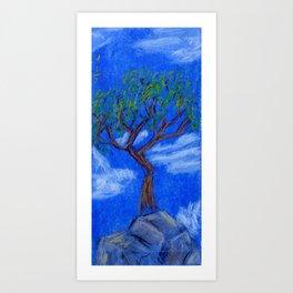 REALLY Blue Bonsai Art Print
