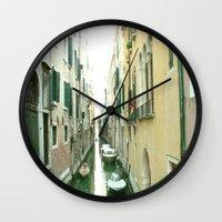 italy Wall Clocks featuring italy by Harriet Hendricks