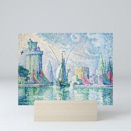 """Paul Signac """"Les Tours Vertes, La Rochelle"""" Mini Art Print"""